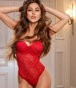 New escort in town Candice in her red lingerie